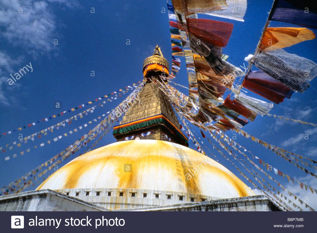 bodnath temple, kathmandu, nepal, asia - Stock Image