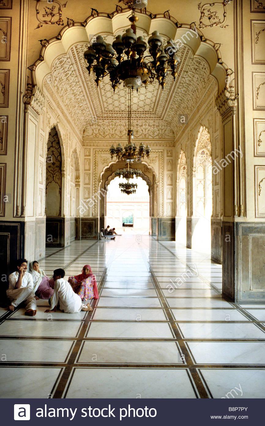 badshahi mosque, lahore, pakistan, asia - Stock Image