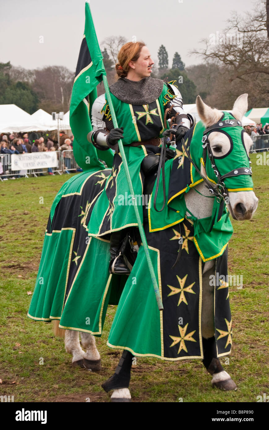 female knight on horseback at a jousting tournament  sc 1 st  Alamy & female knight on horseback at a jousting tournament Stock Photo ...
