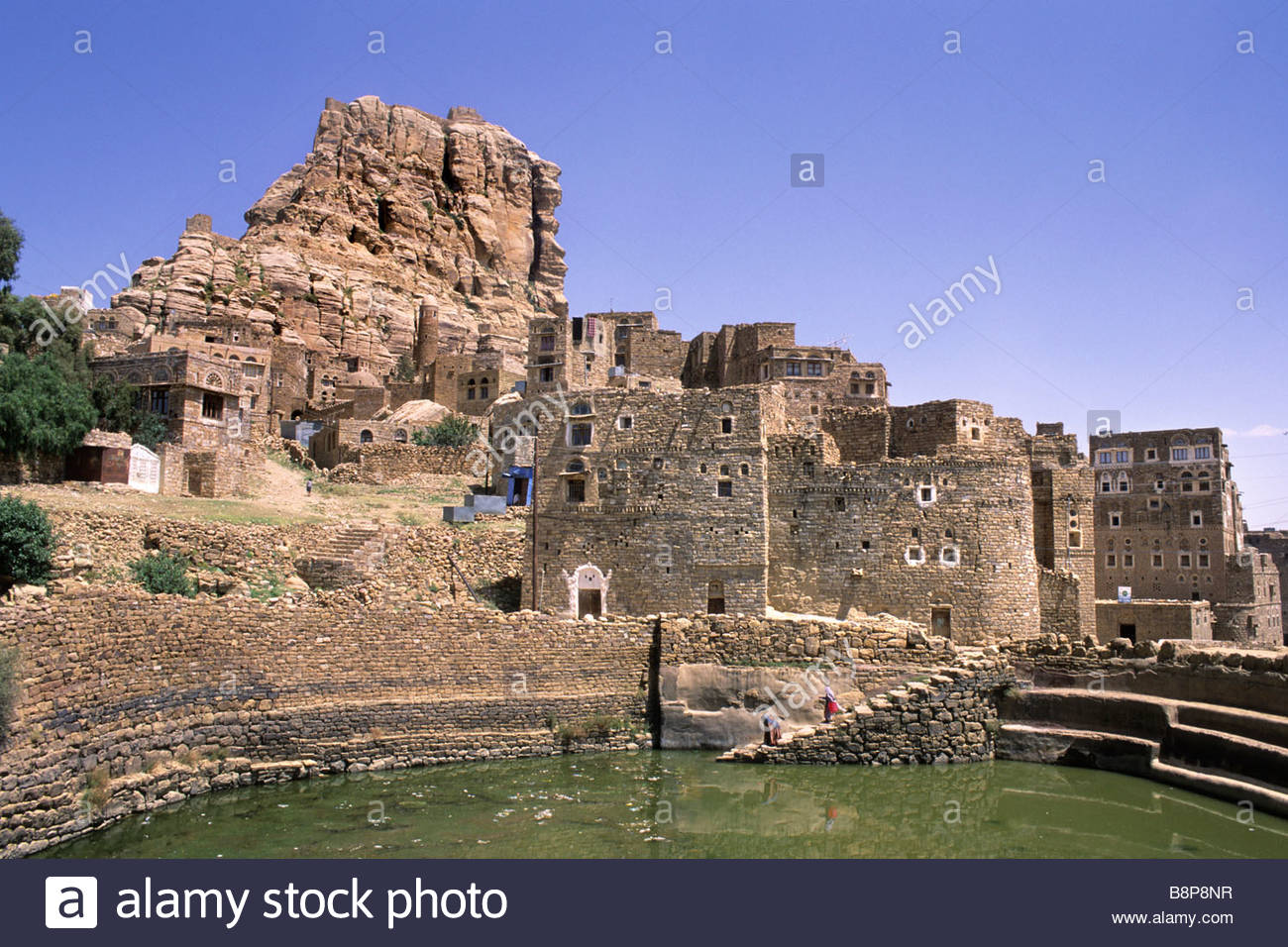hababa, yemen, arabian peninsula - Stock Image