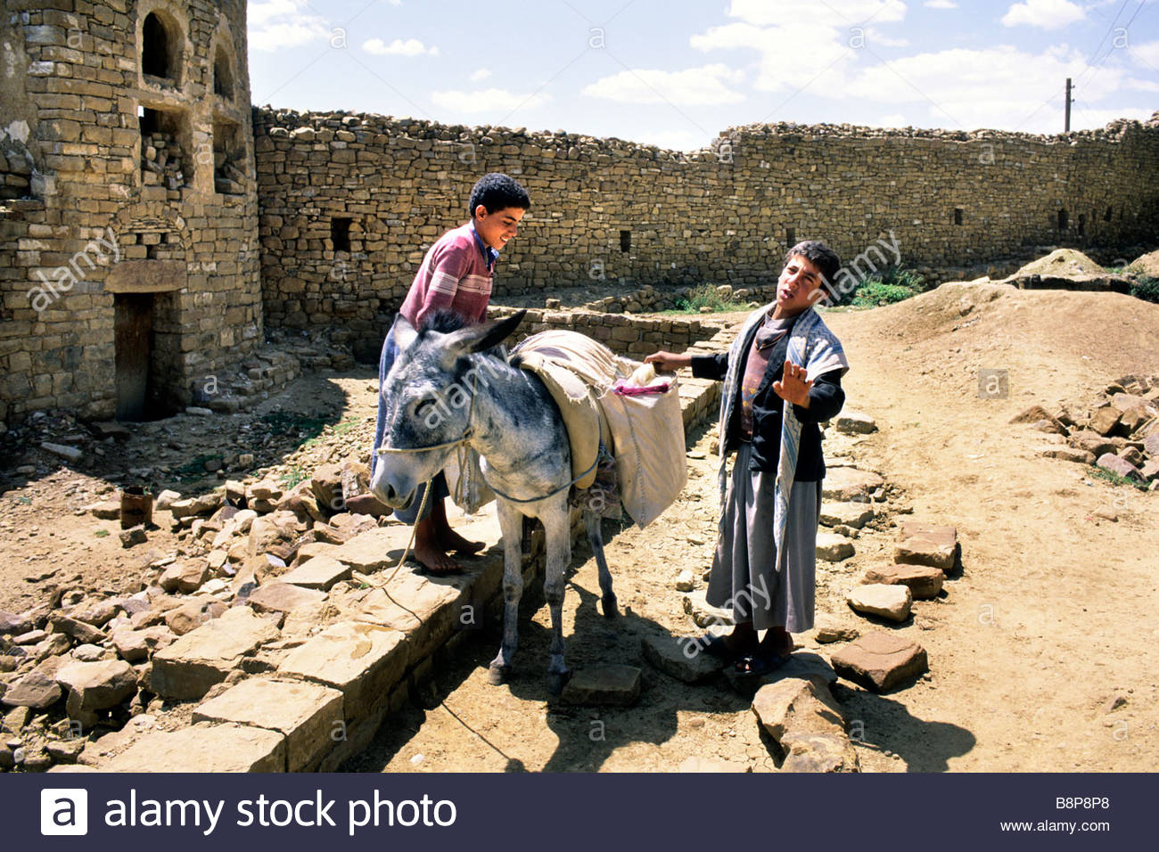 boys, yemen, arabian peninsula - Stock Image