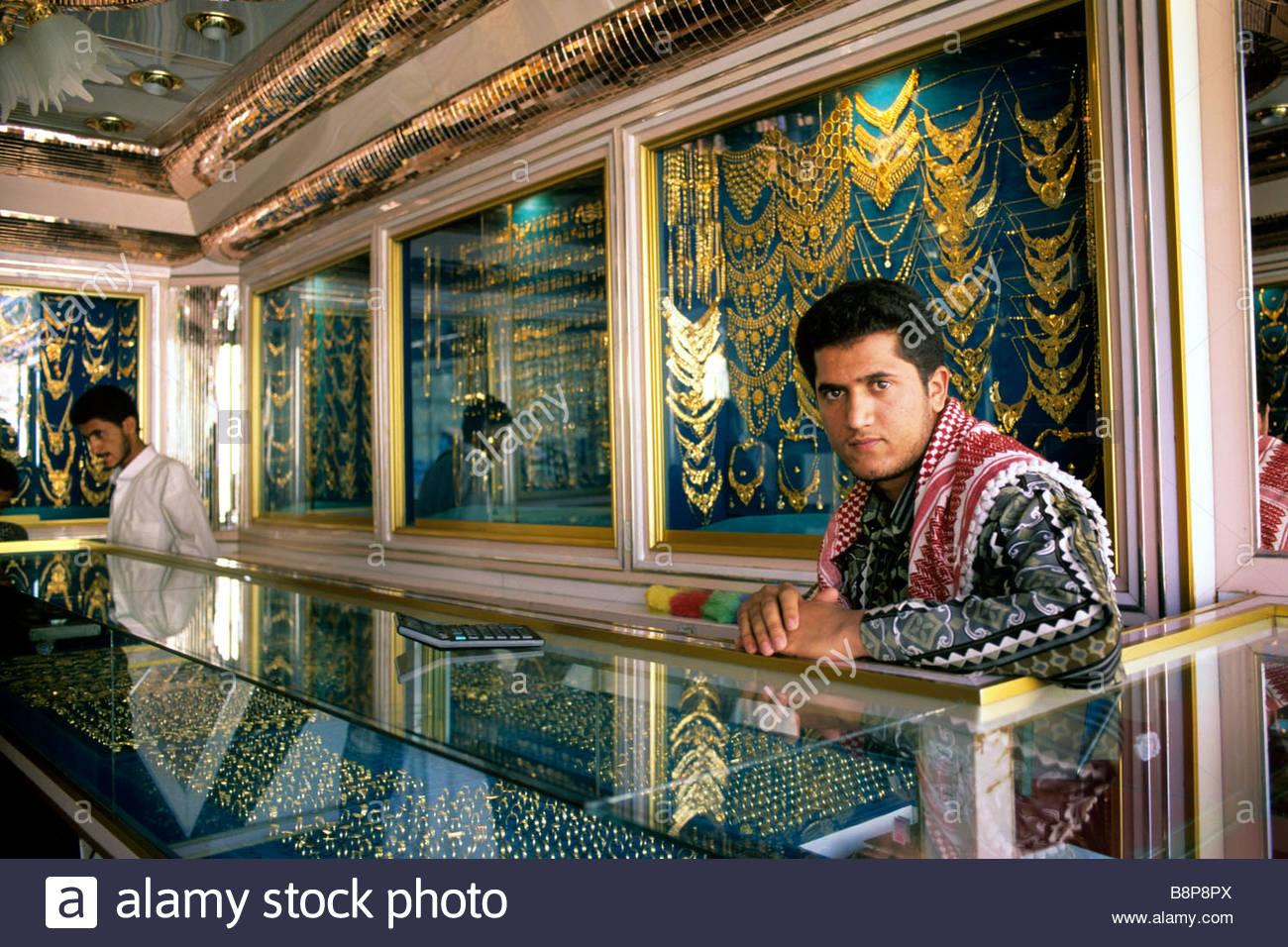 jeweller shop, yemen, arabian peninsula - Stock Image