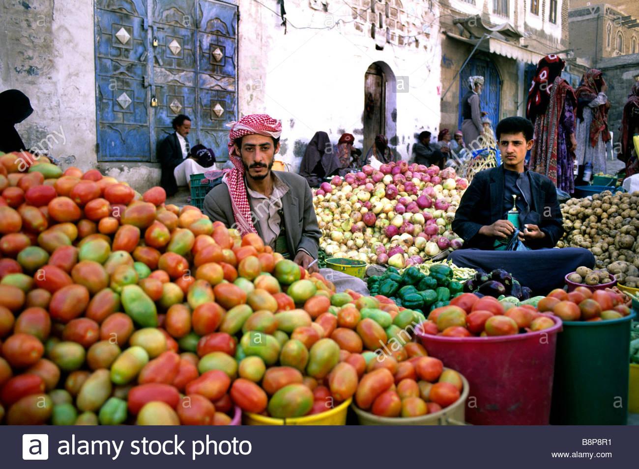 market, yemen, arabian peninsula - Stock Image