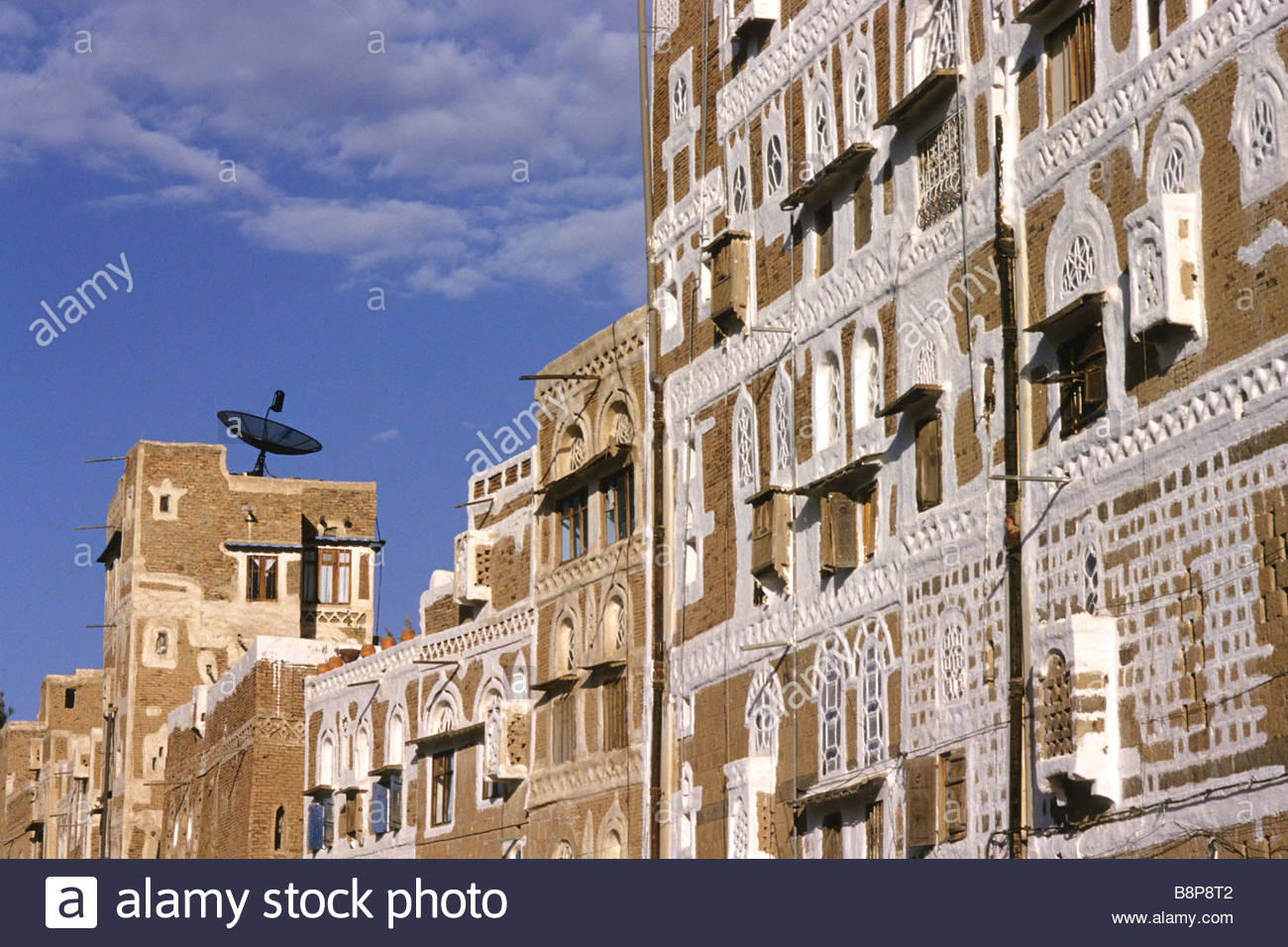 traditional houses, san'a, yemen, arabian peninsula - Stock Image