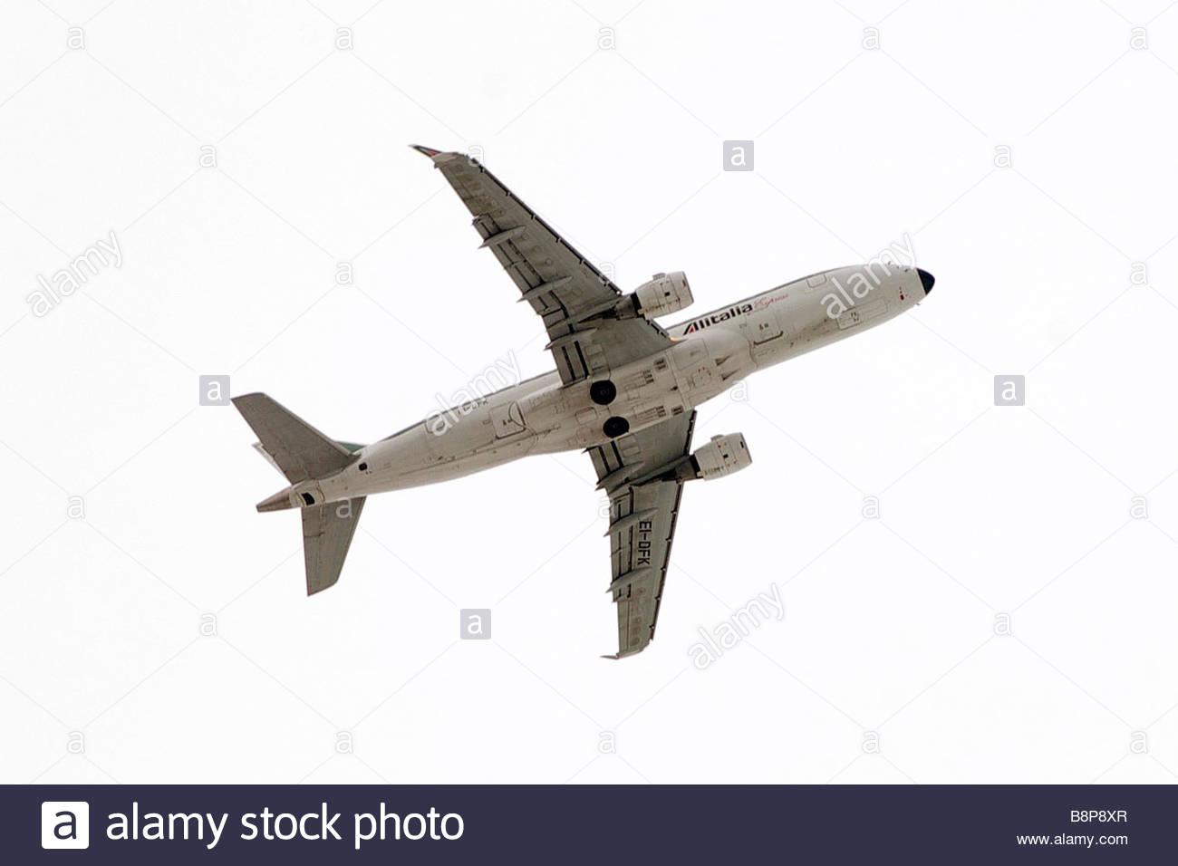 alitalia flight'milano 14-01-2009  'photo marco becker/markanews - Stock Image