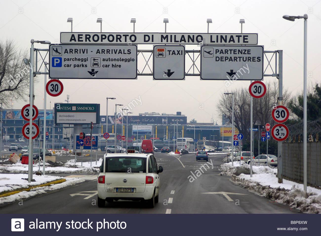linate airport'milano 14-01-2009  'photo marco becker/markanews - Stock Image