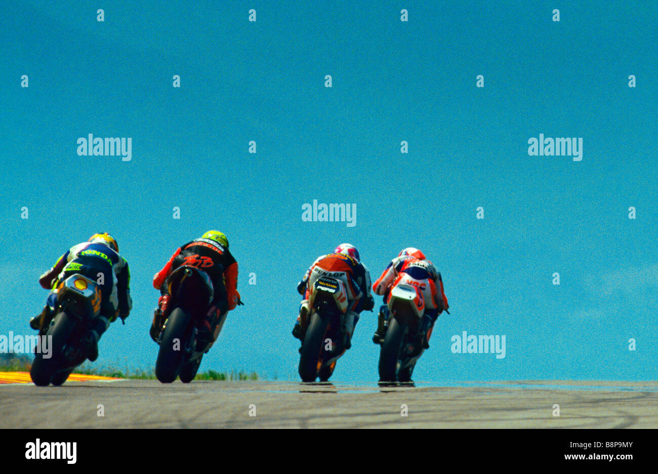MOTO COMPETITION - Stock Image