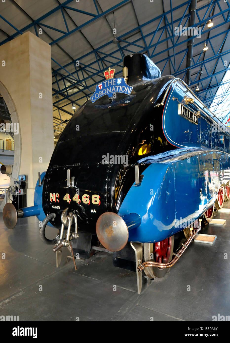 Mallard train, The National Railway Museum, York, Britain, UK - Stock Image