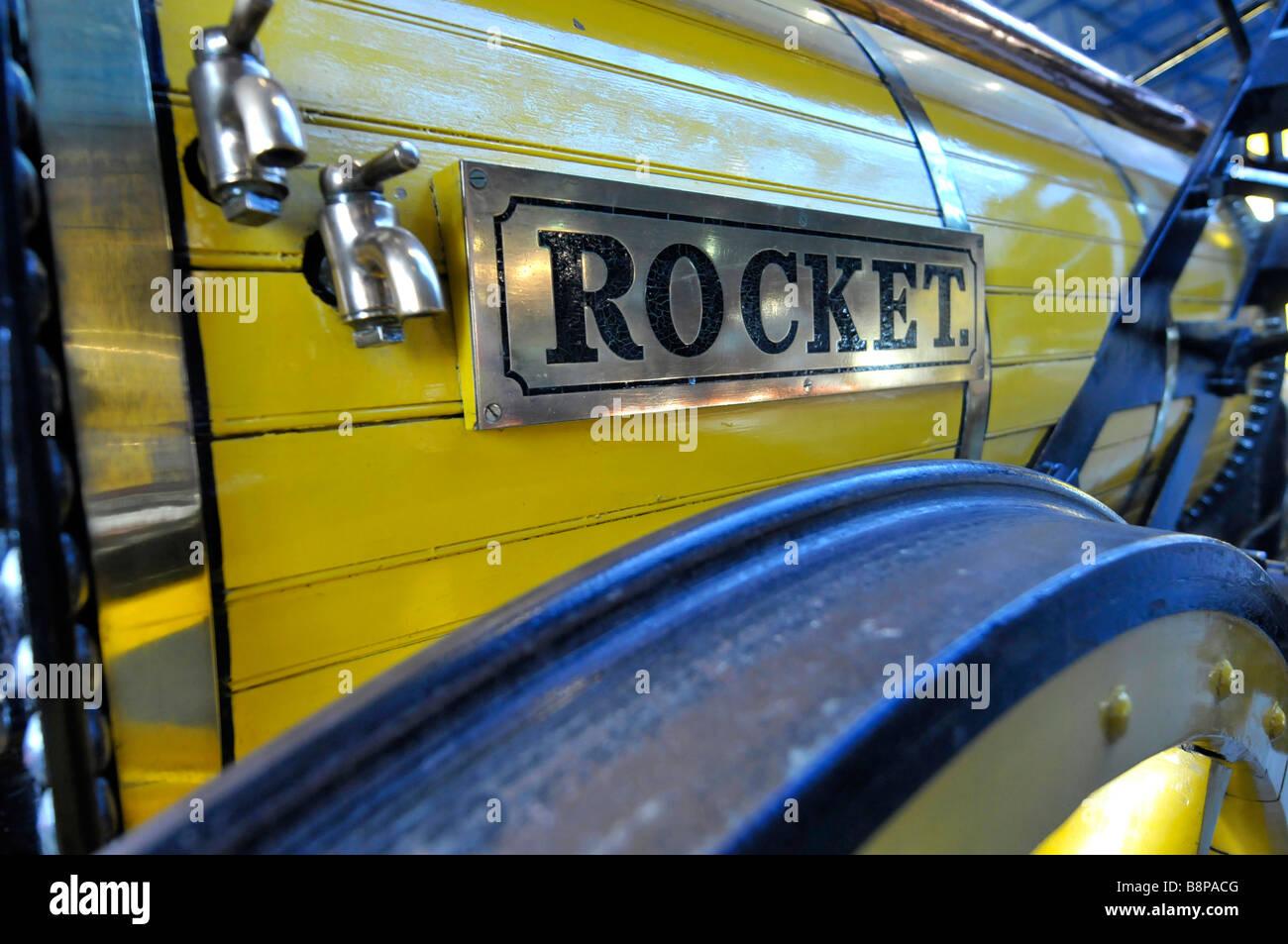 Copy of Rocket at The National Railway Museum, York, Britain, UK - Stock Image