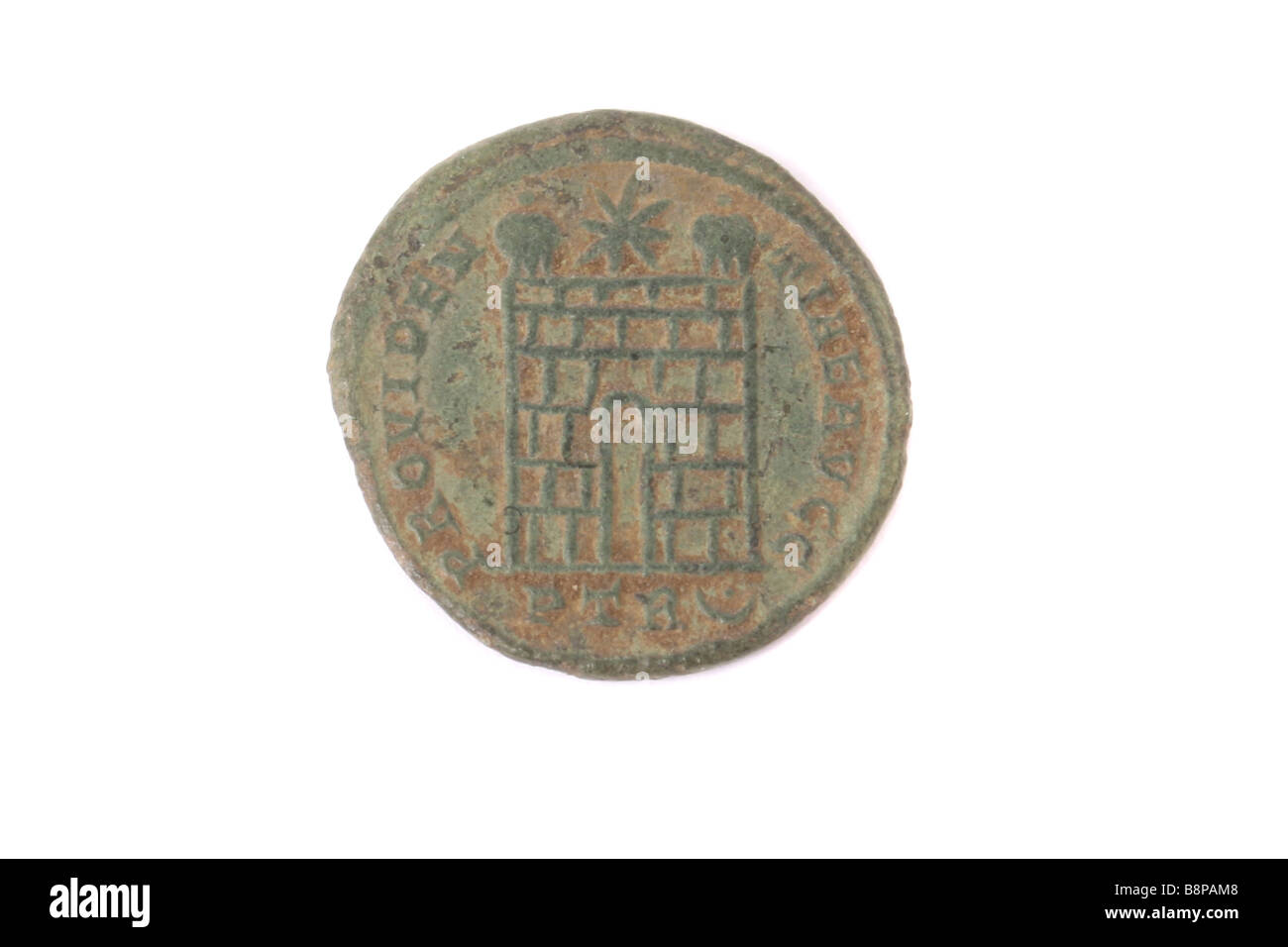 A Roman coin found in England. - Stock Image