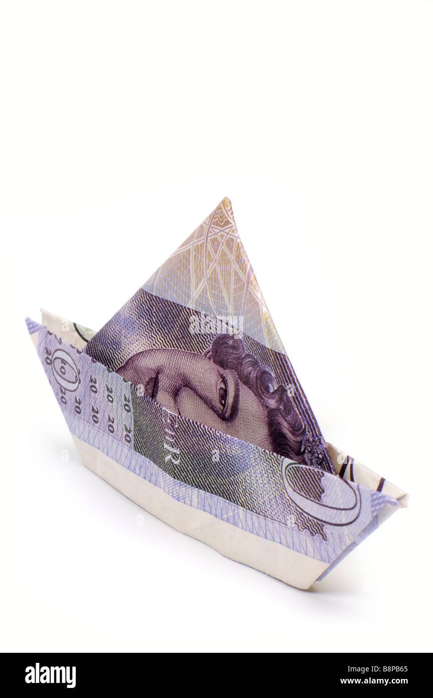 £20 Boat - Portrait - Stock Image