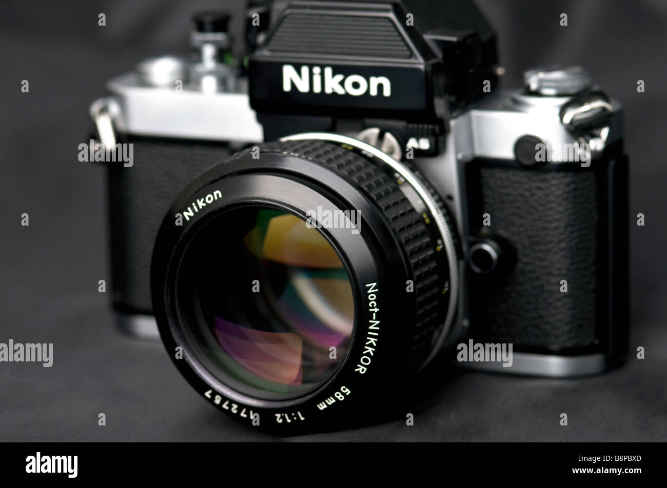 Film camera Nikon F2- as with lens Noct Nikkor 58mm f/1 2 Stock
