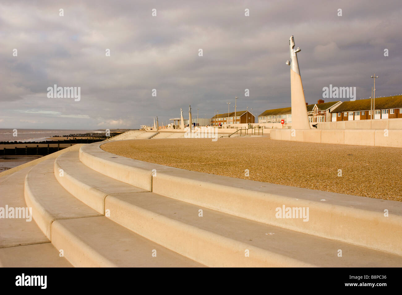 The seafront at Thornton Cleveleys Lancashire - Stock Image