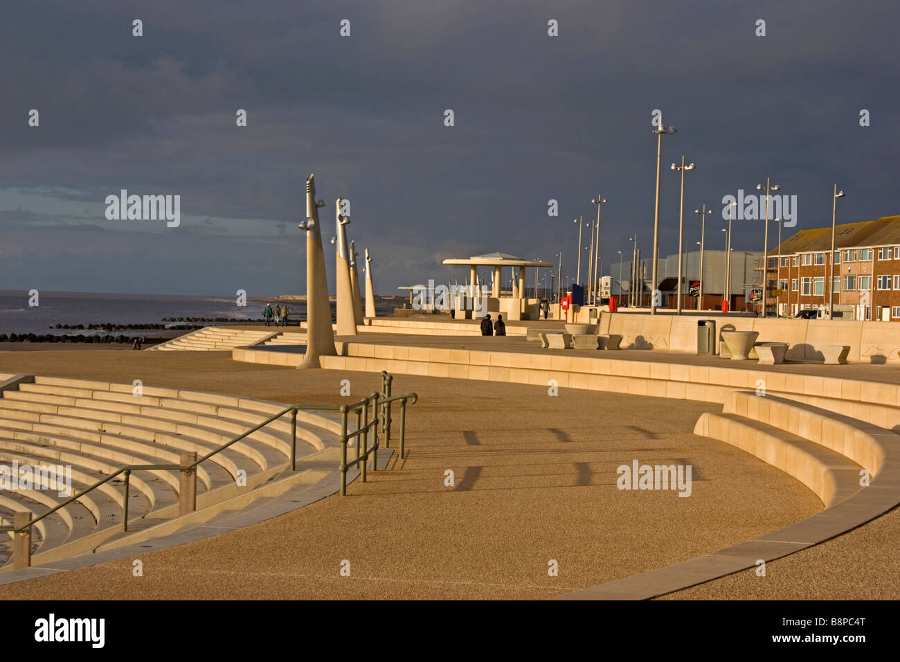 The seafront at Thornton Cleveleys Lancashire Stock Photo ...