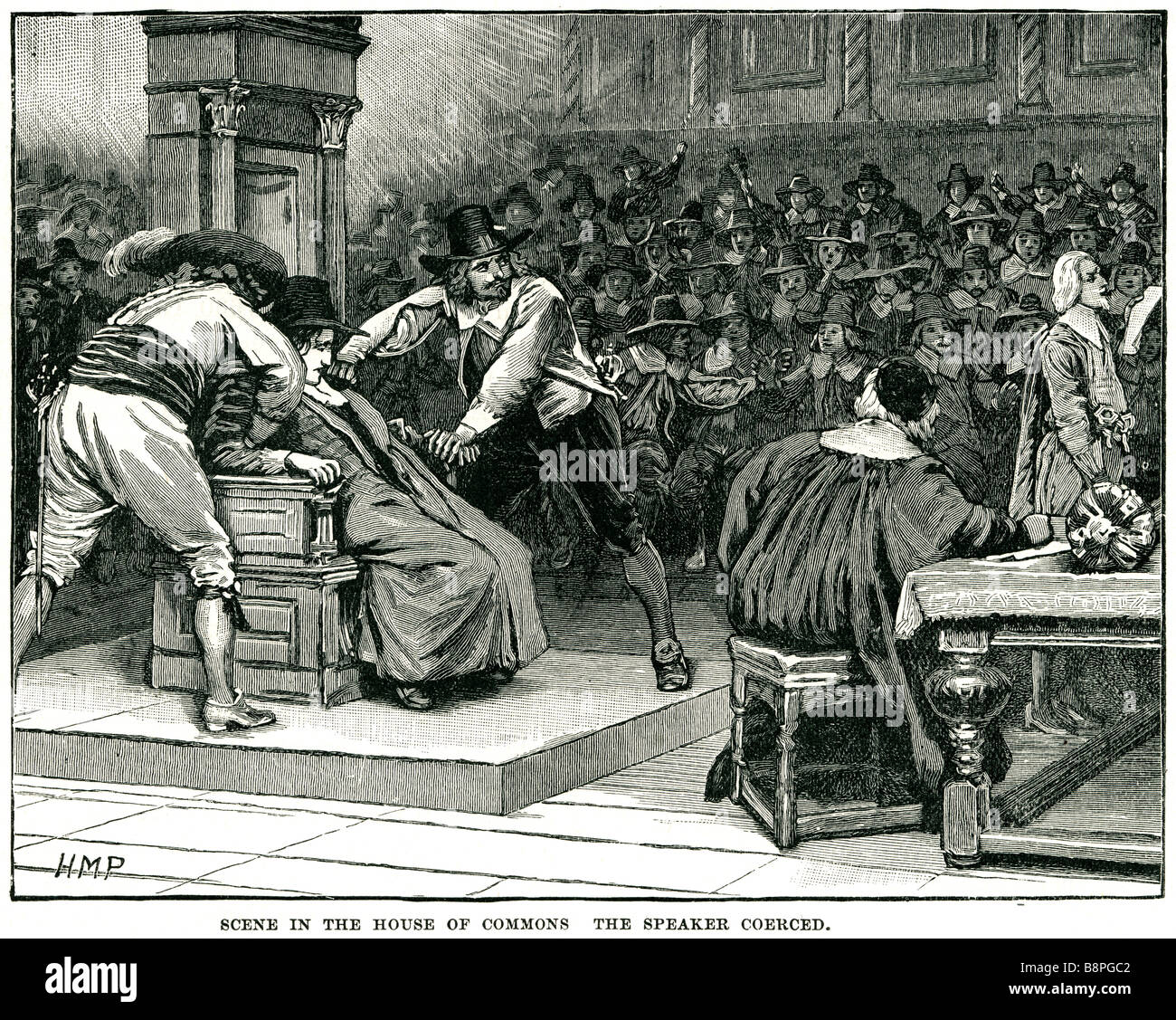 scene in the house of commons the speaker coerced In January 1629, Charles  opened the second session of the Parliament, which ha
