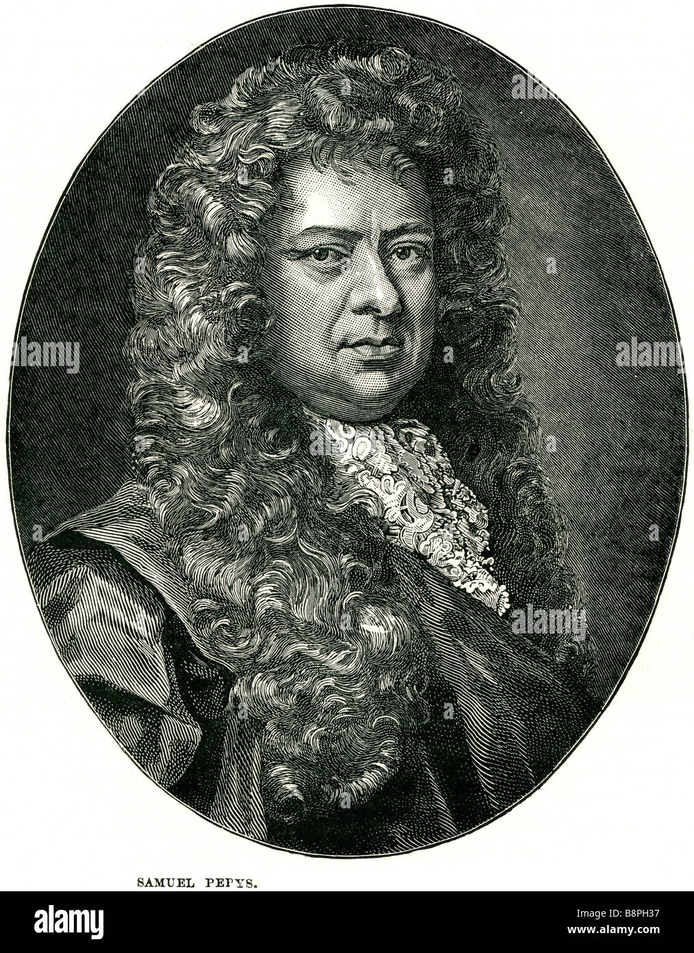 Samuel Pepys, FRS (23 February 1633 – 26 May 1703) was an English naval administrator and Member of Parliament, - Stock Image