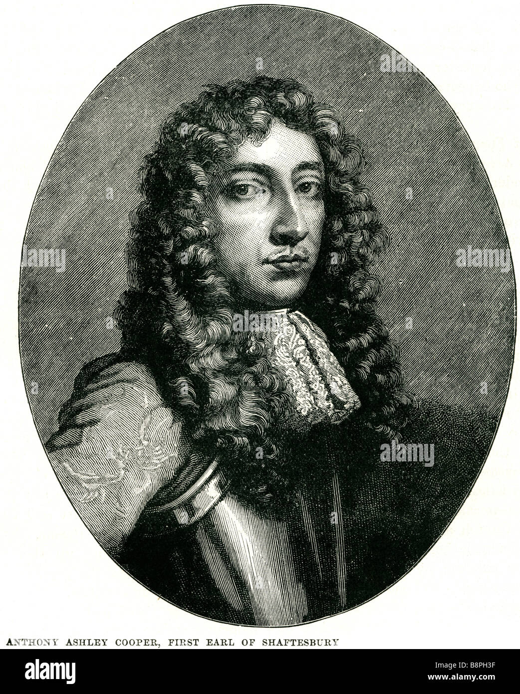 Anthony Ashley-Cooper, 1st Earl of Shaftesbury PC (22 July 1621 – 21 January 1683), known as Sir Anthony Ashley - Stock Image