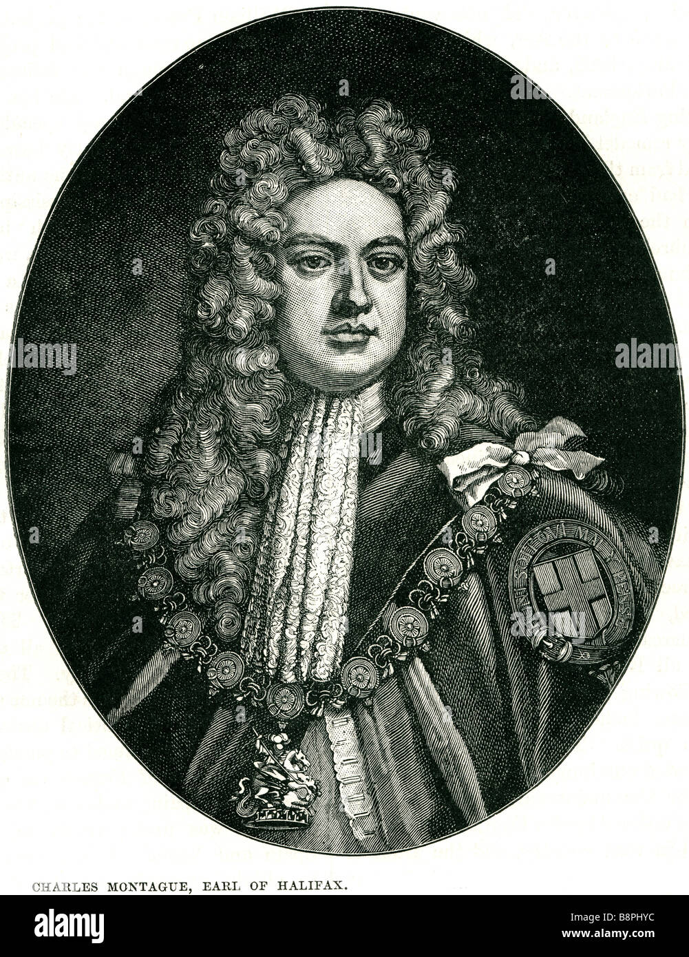 Charles Montagu, 1st Earl of Halifax, KG, PC, FRS (16 April 1661 – 19 May 1715) was an English poet and statesman. - Stock Image