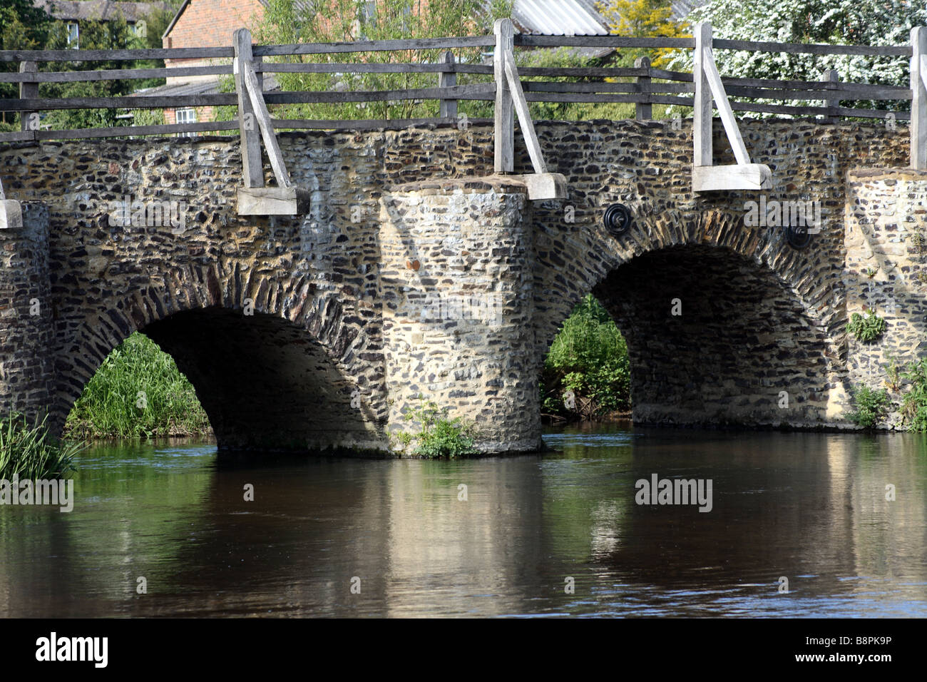 Arches of Tilford Bridge, Surrey - Stock Image