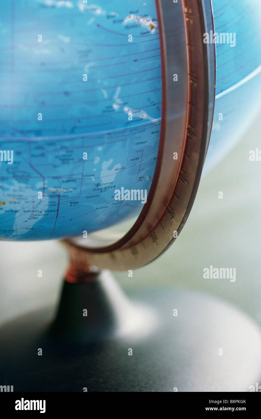 Globe, cropped - Stock Image