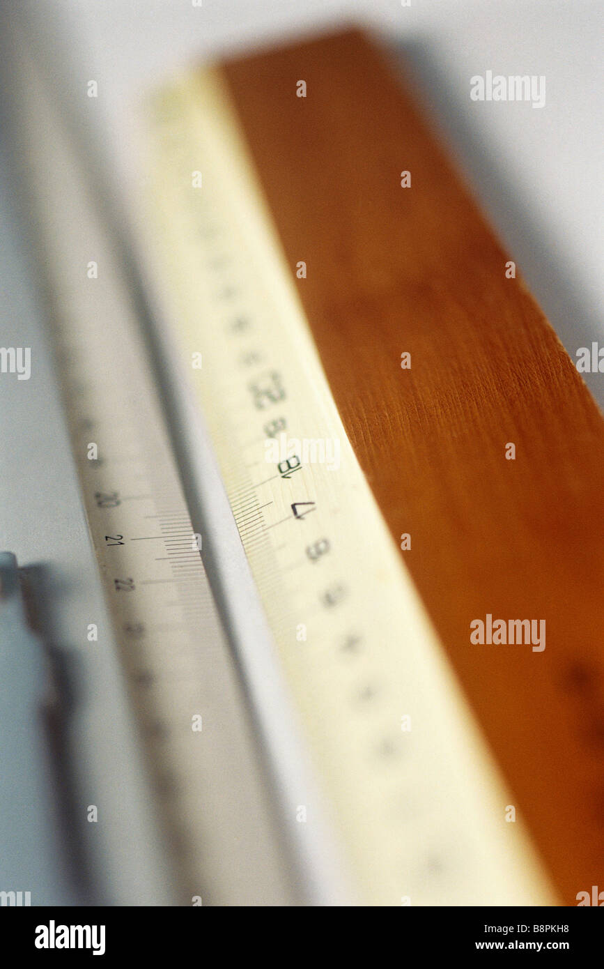 Rulers, extreme close-up - Stock Image