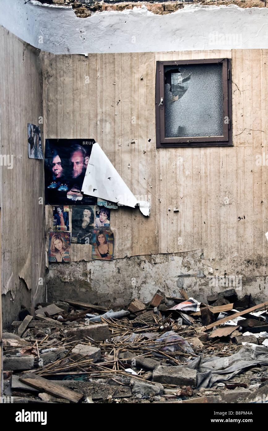 Derelict house - Stock Image