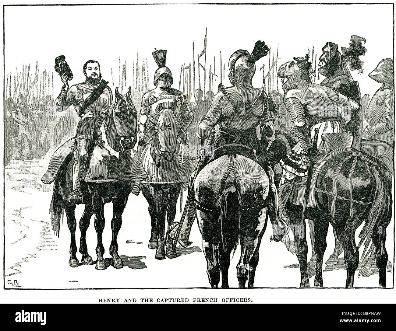 Henry VIII Captured French Officers Battle of Spurs 1513 Guinegate Holy League - Stock Image