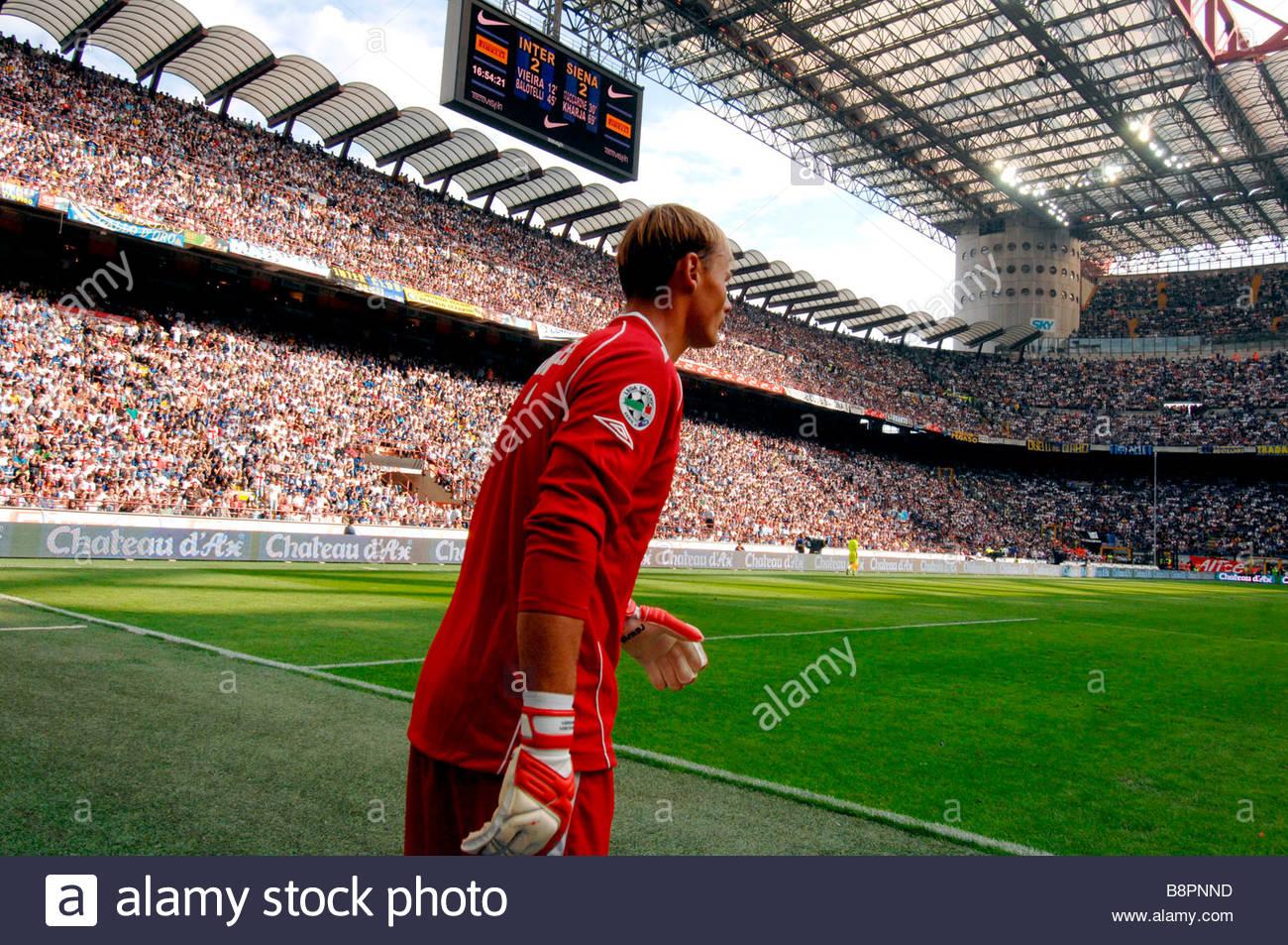 soccer, san siro, milan - Stock Image
