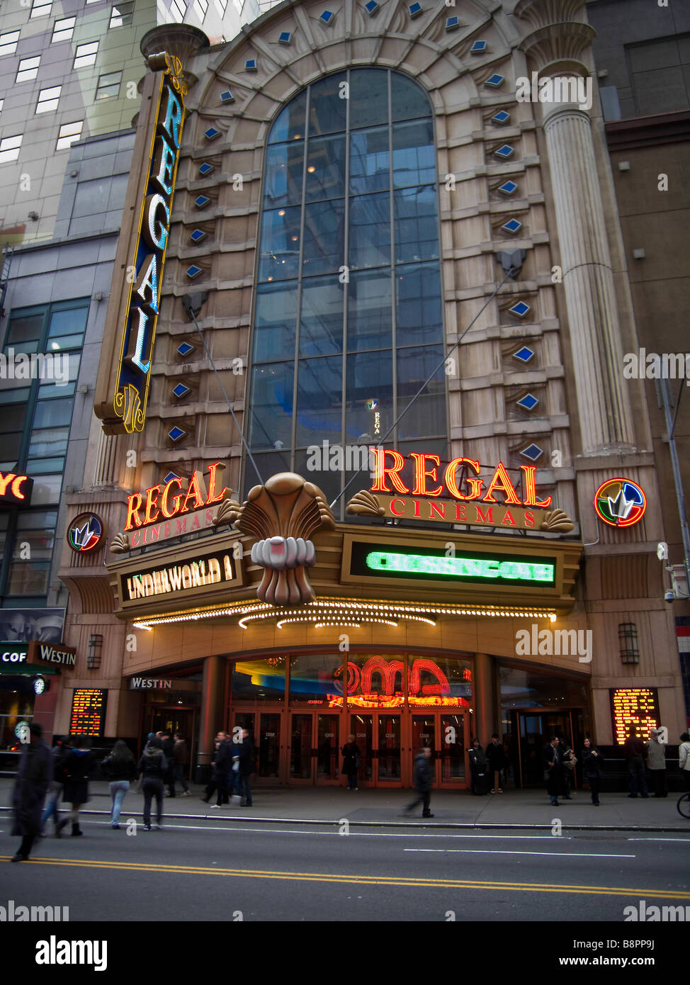 The Regal Cinemas In Times Square In New York Stock Photo