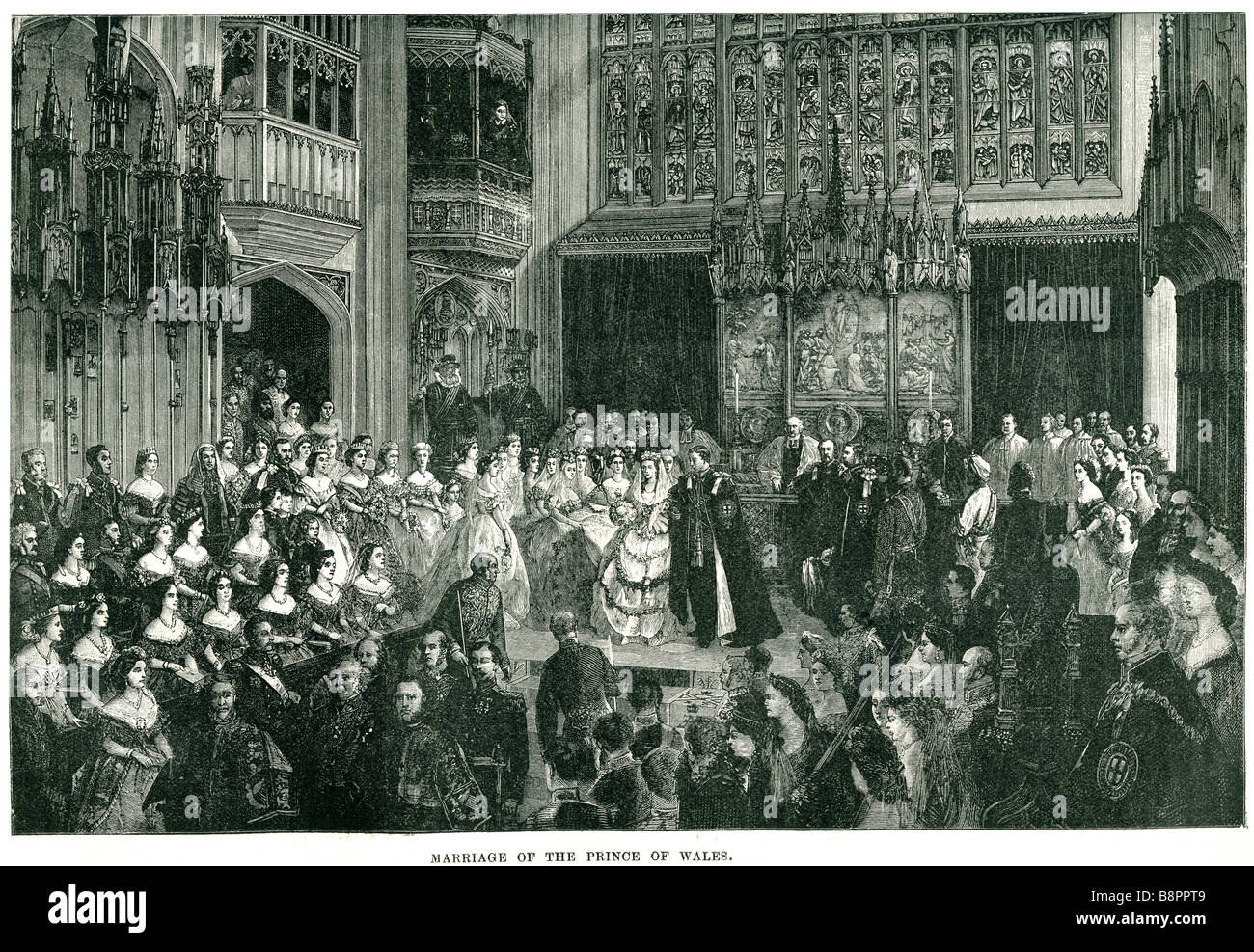 marriage the prince of wales Edward VII 1863 King United Kingdom British Dominions Emperor of India Stock Photo