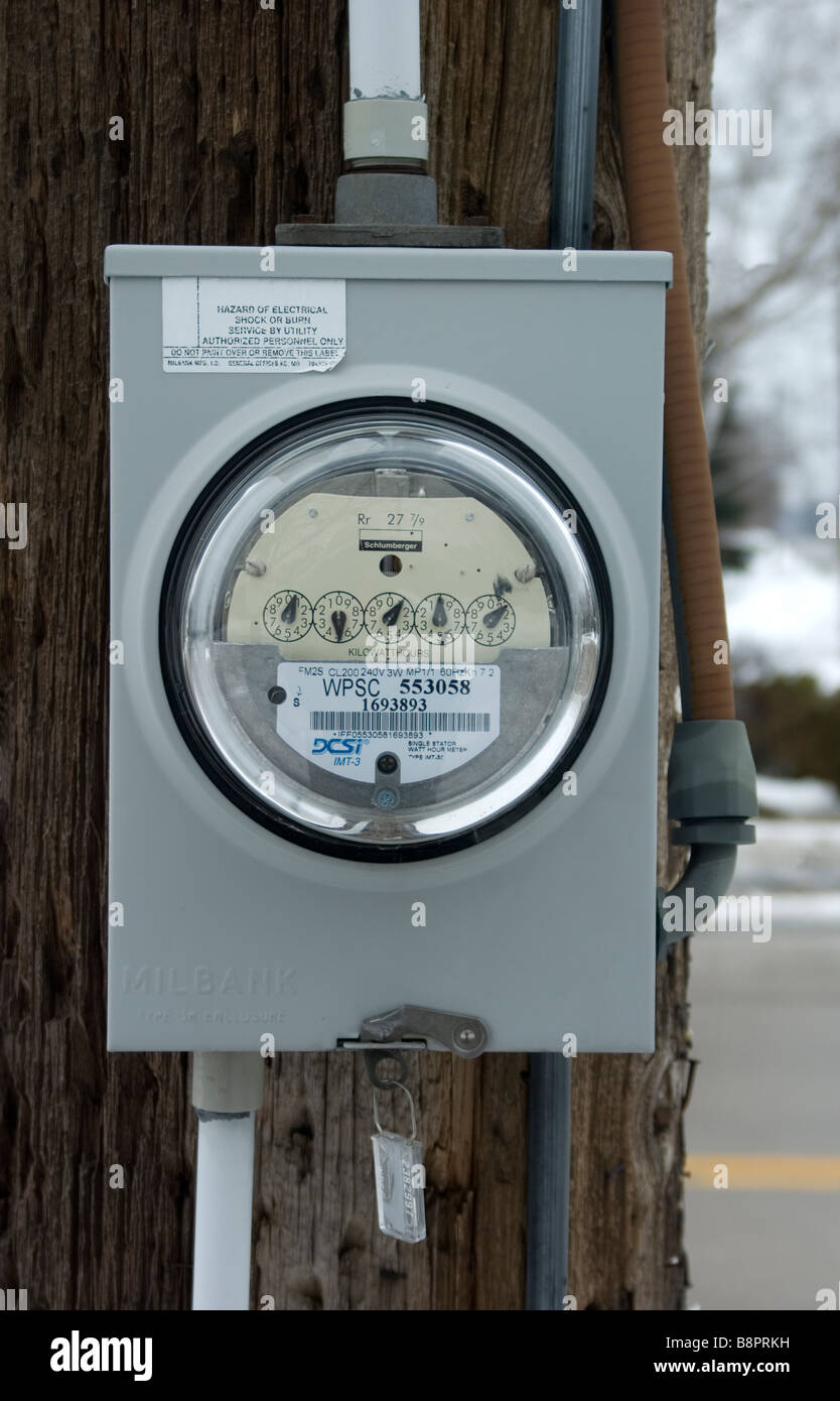 Electric power meter - Stock Image