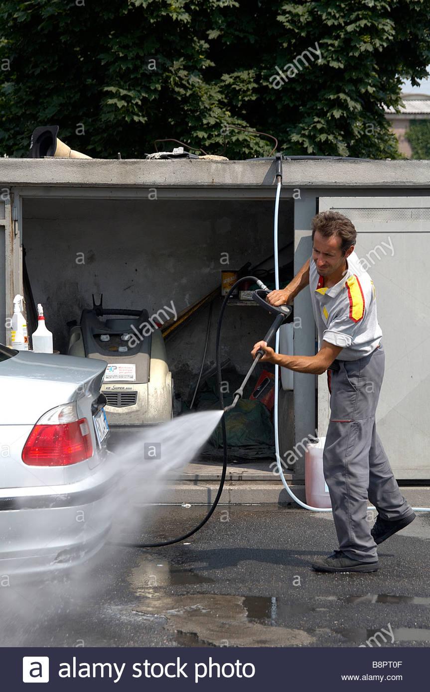 car wash - Stock Image