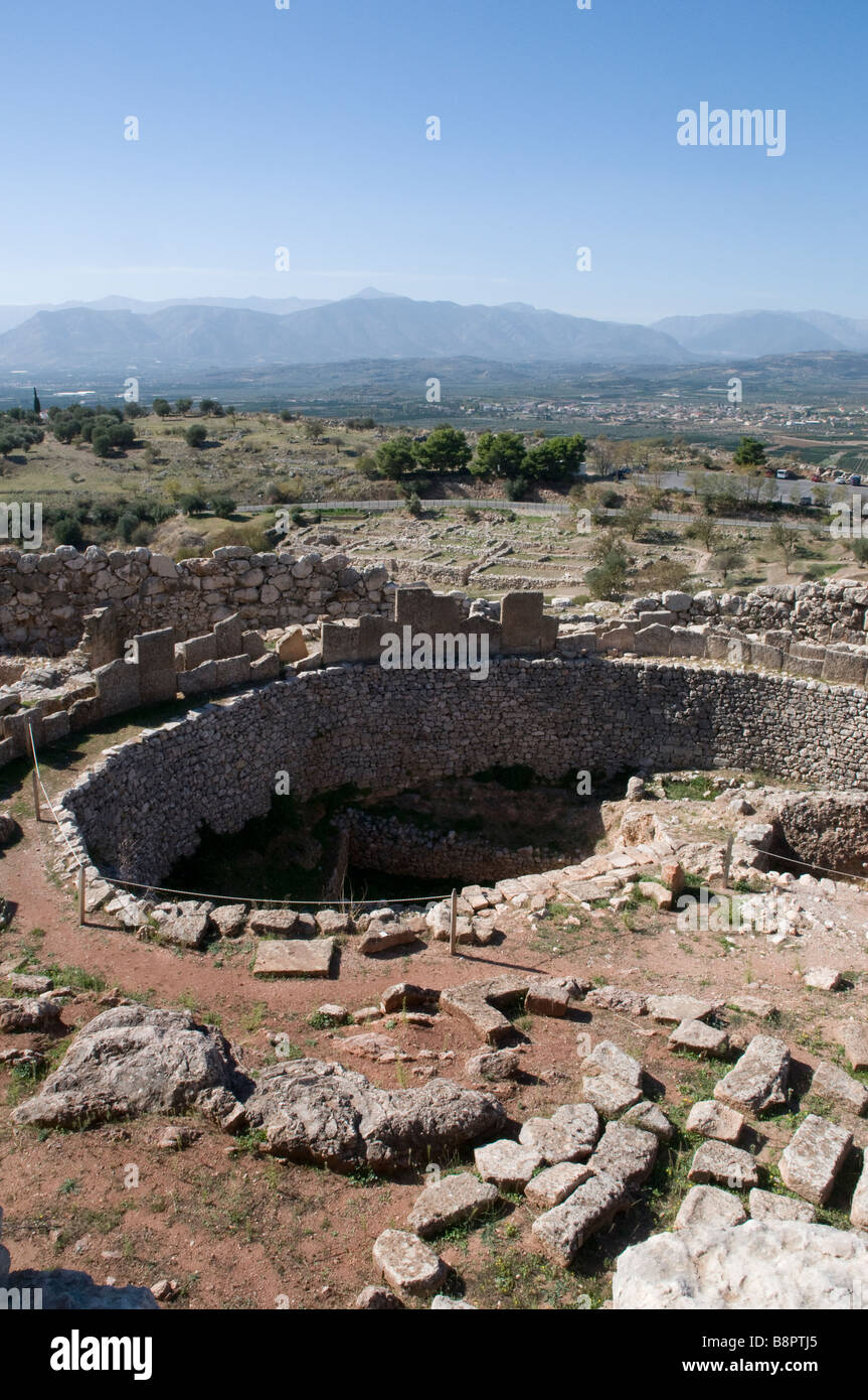 Citadel of Mycenae Greece - Stock Image