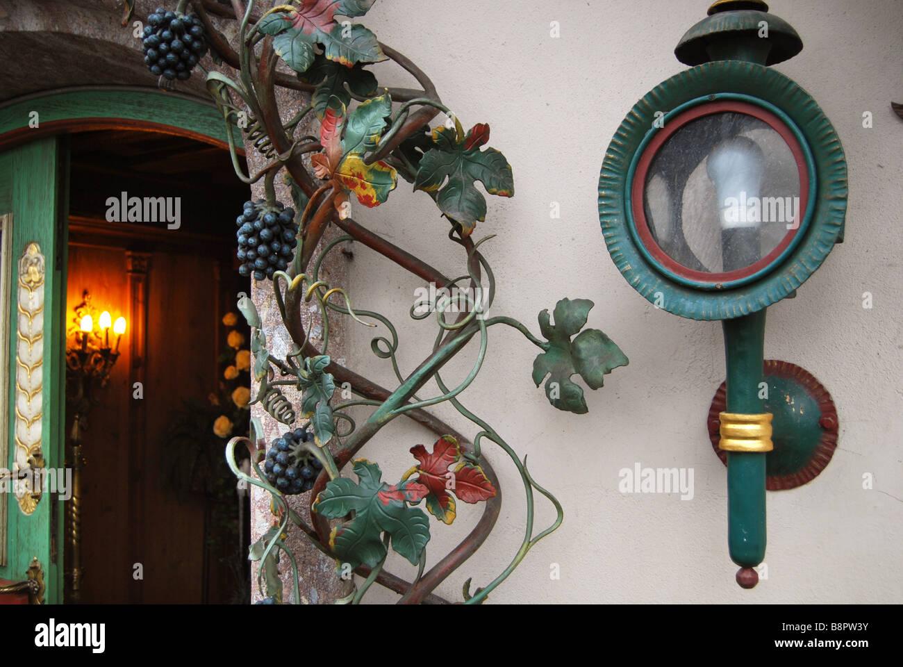 Gasthof Neue Post family restaurant Mayrhofen Tyrol Austria - Stock Image