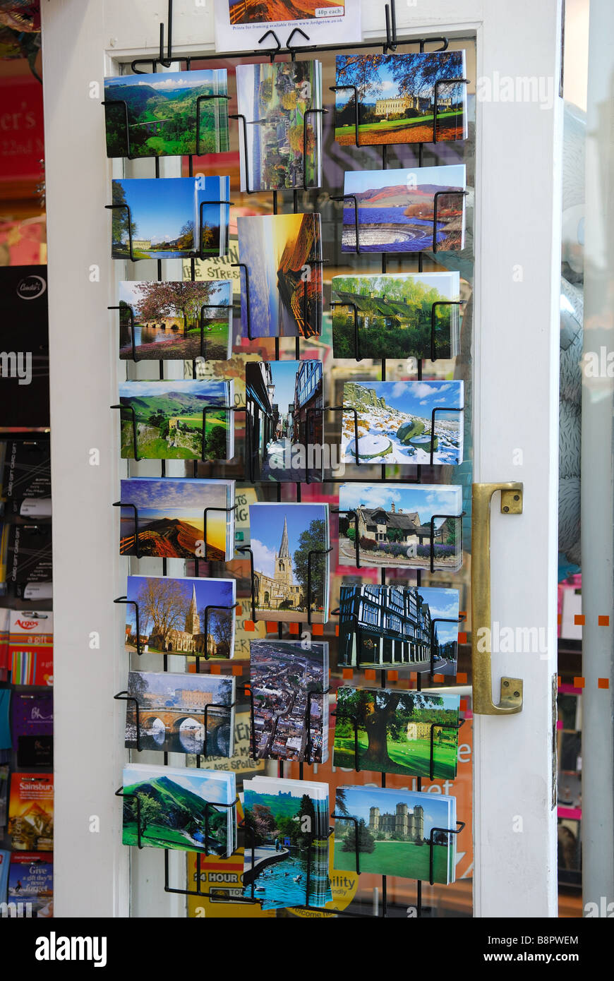 Chesterfield, Postcards For Sale. - Stock Image