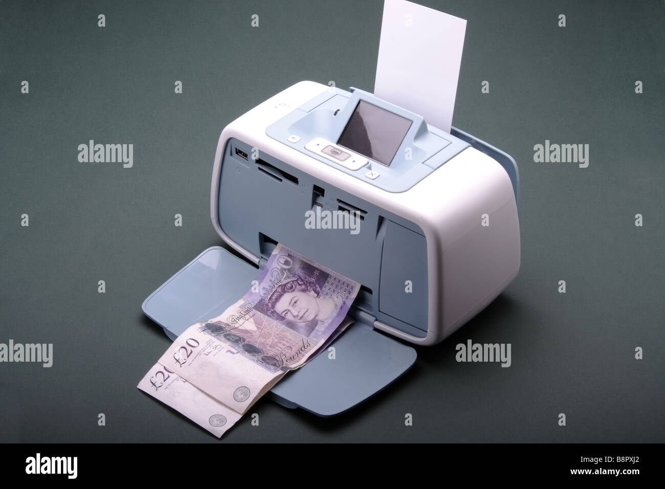 Quantitative Easing Printing Money #4 Stock Photo: 22631450