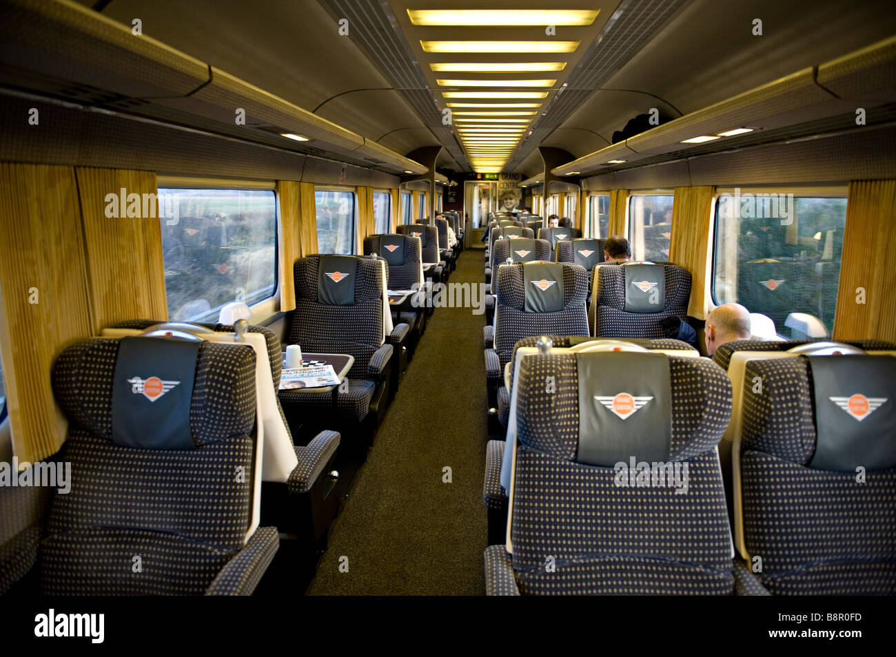Interior Of A Grand Central Railway First Class Carriage