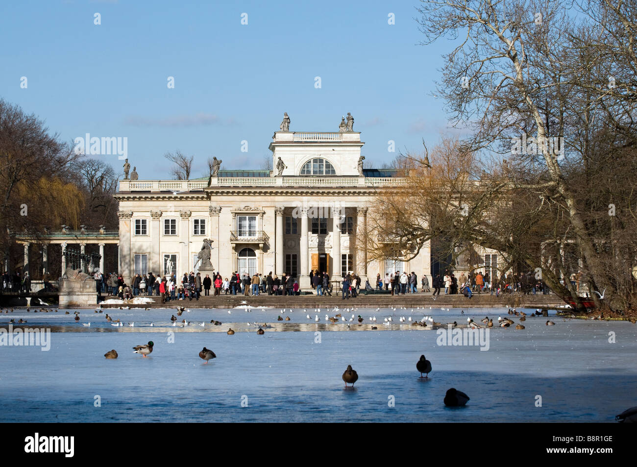 Palace On The Isle In The Royal Park Of Lazienki In Winter