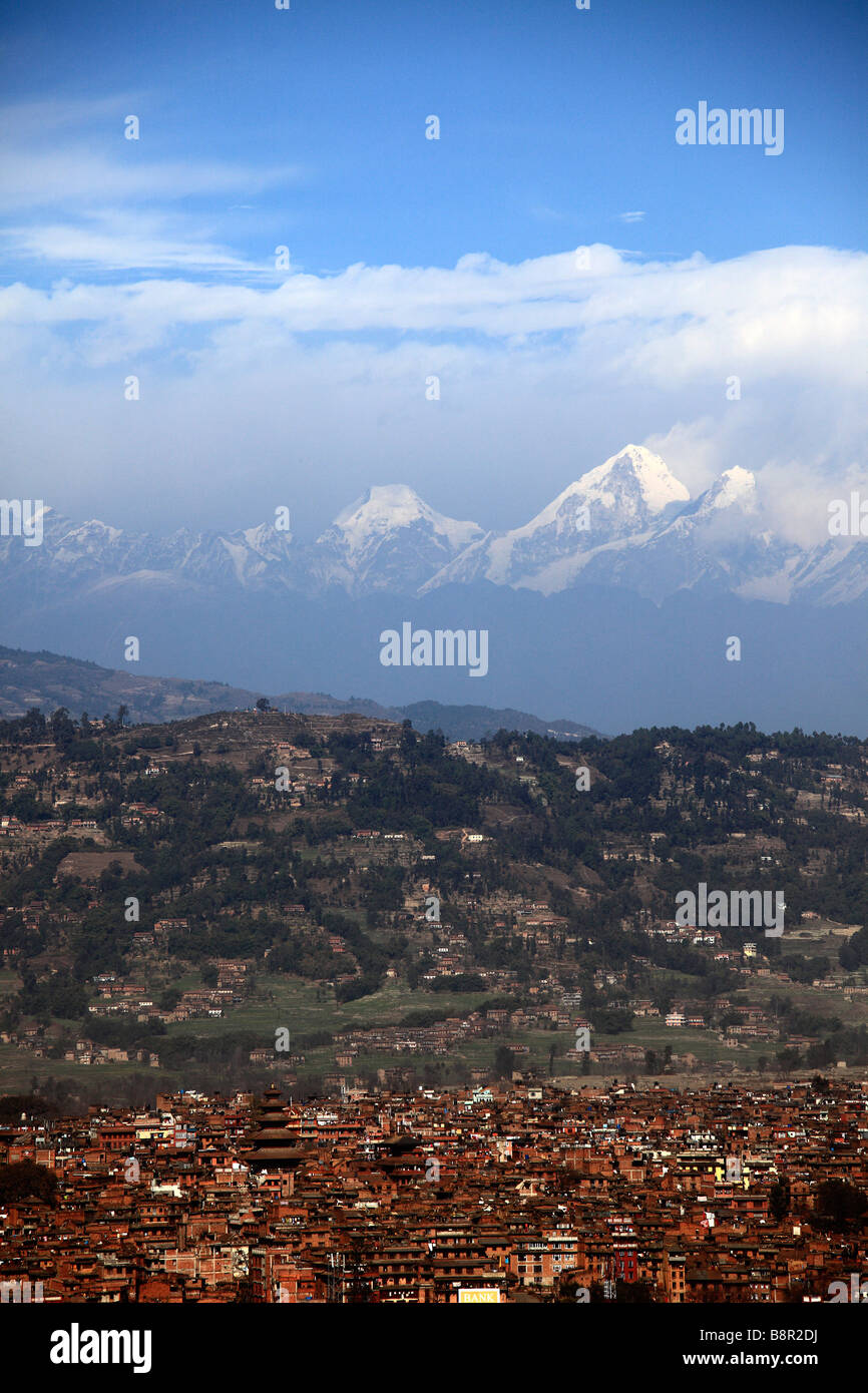 Nepal Kathmandu Valley Bhaktapur the Himalayas - Stock Image