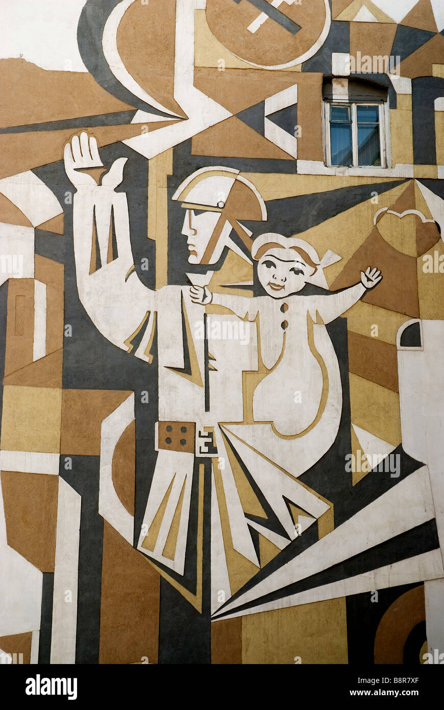 street mural baku azerbaijan caucasus travel soviet art Stock Photo