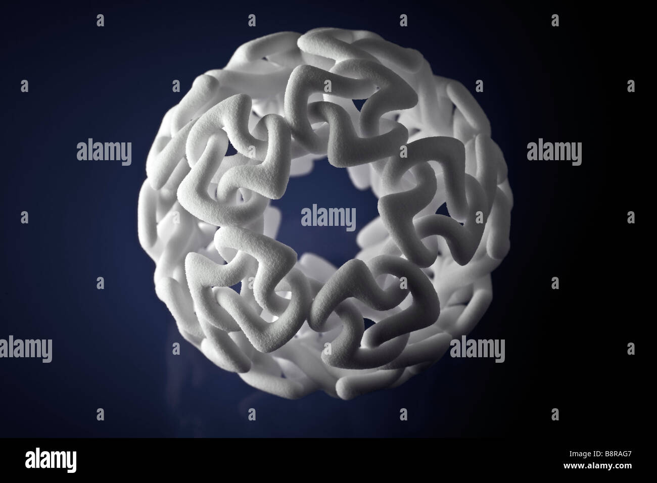A production by 3-dimensional printing of a modern sculpture. Production en 3 dimensions d' une sculpture moderne. Stock Photo