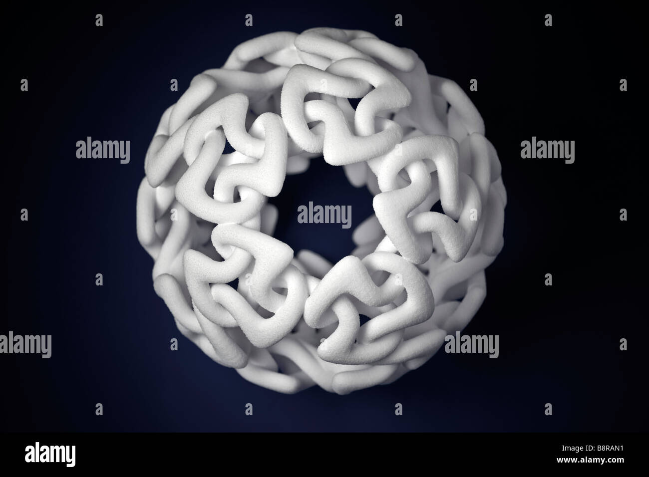 A production by 3-dimensional printing of a modern sculpture. Production en 3 dimensions d' une sculpture moderne. - Stock Image