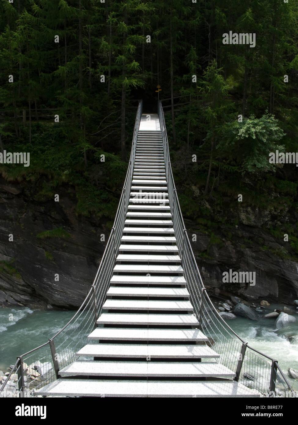 Bridge, switzerland, Alp - Stock Image