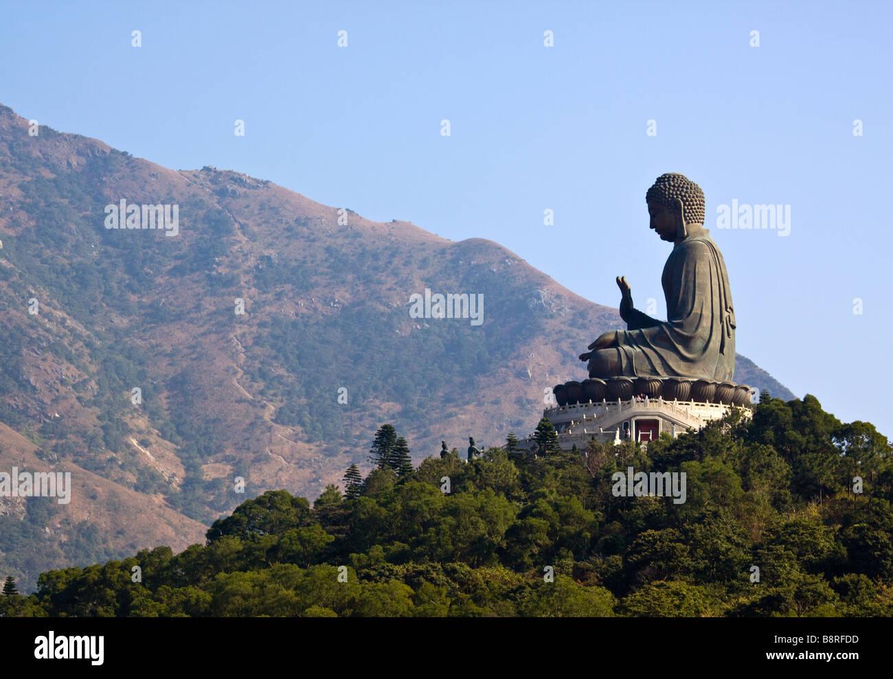 Big Buddha at Ngong Ping Lantau Island Hong Kong - Stock Image
