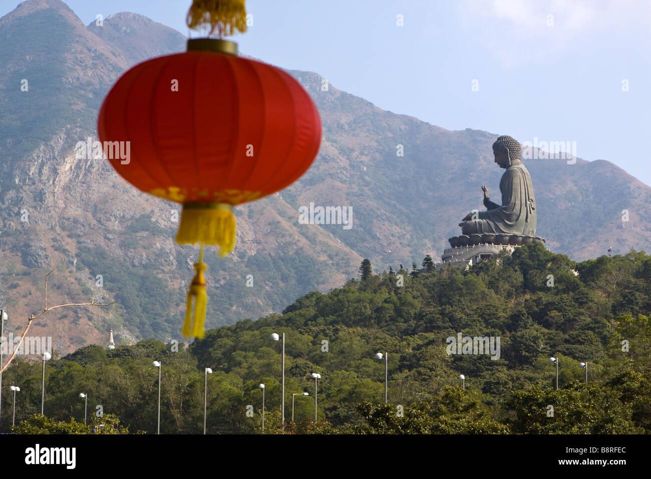 Big Buddha at Ngong Ping Lantau Island Hong Kong. - Stock Image