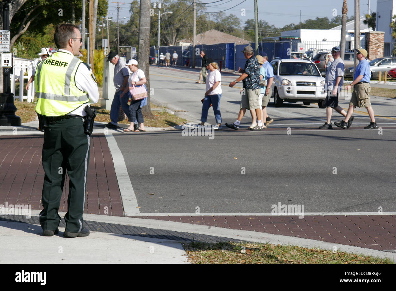 Pinellas County Sheriff in Dunedin Florida USA Stock Photo