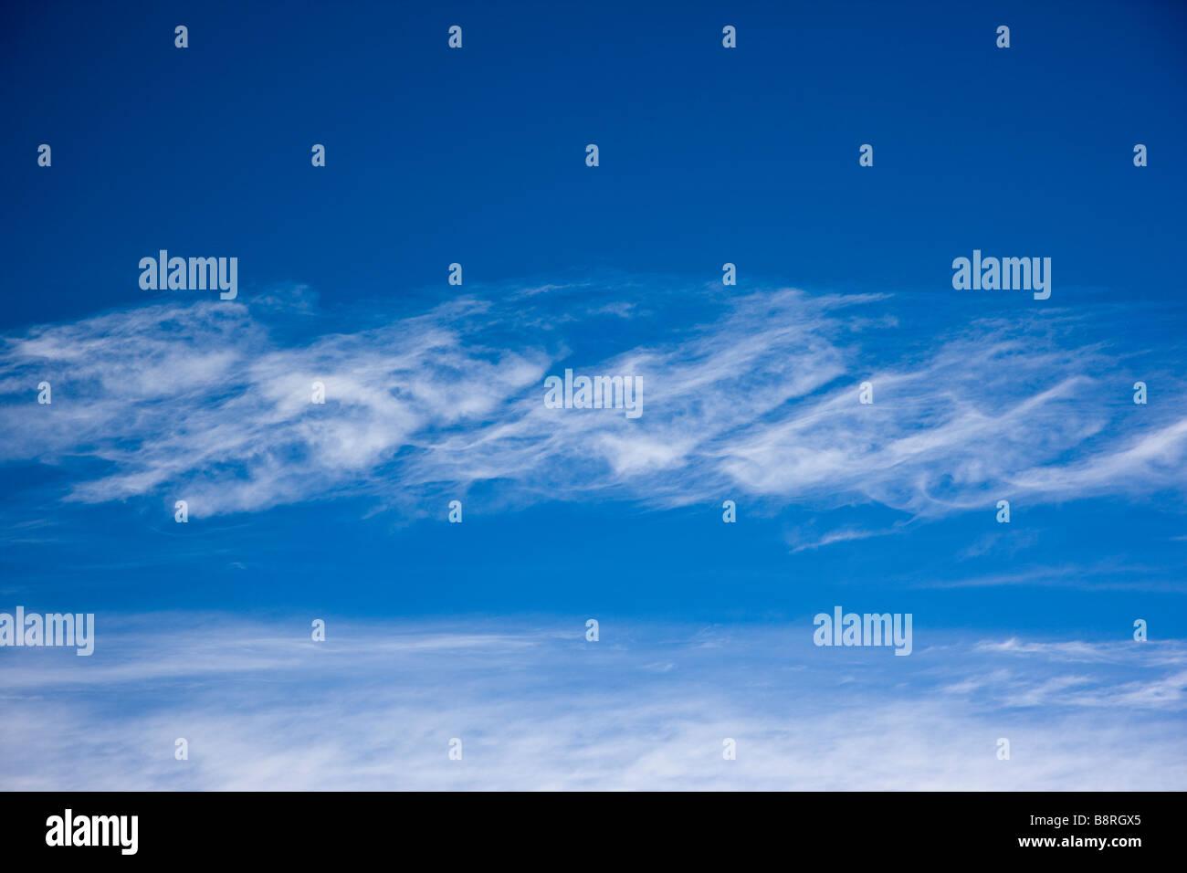Unusual cloud formations in a winter Colorado sky - Stock Image