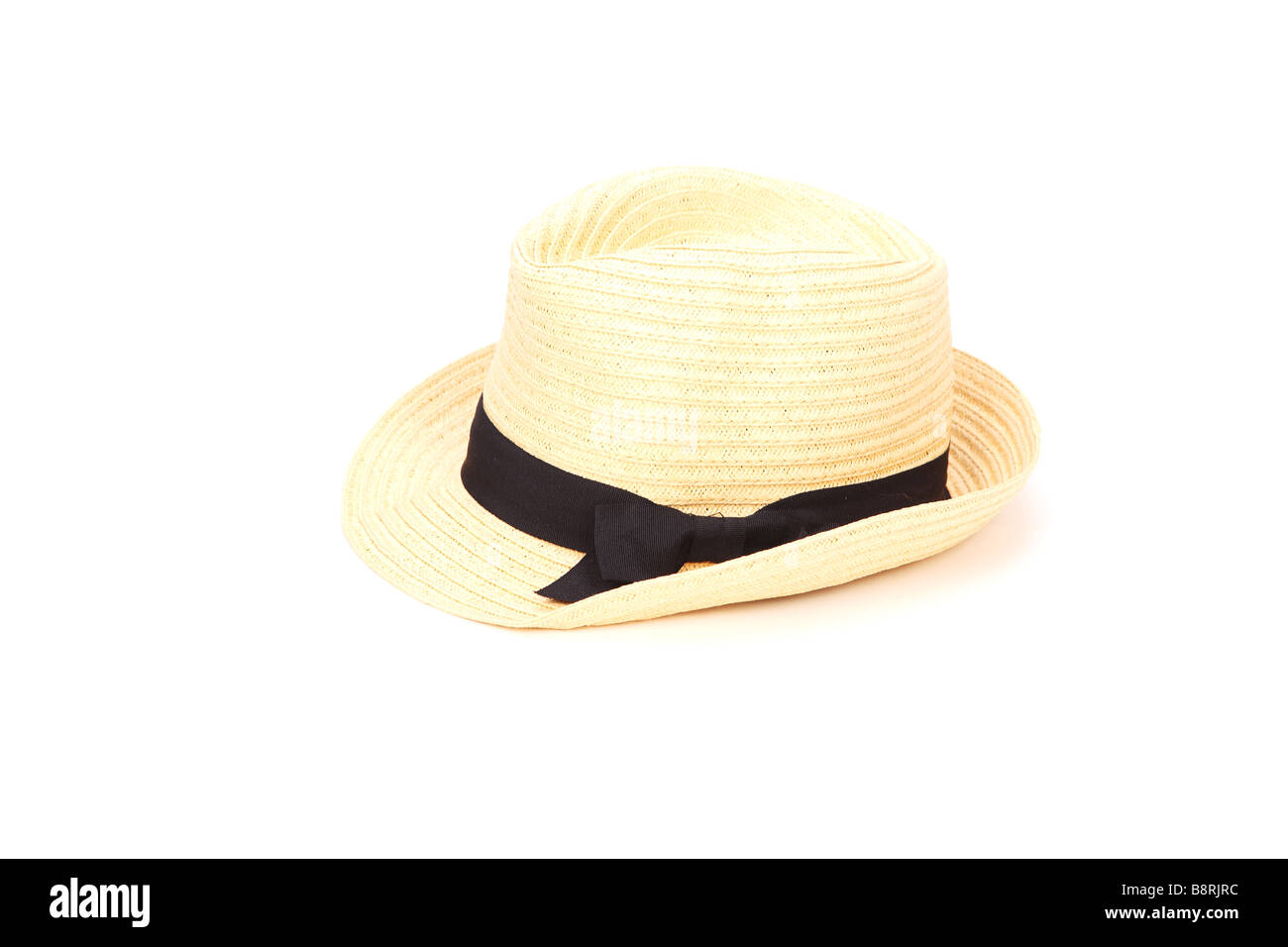 summer hat isolated on white background - Stock Image