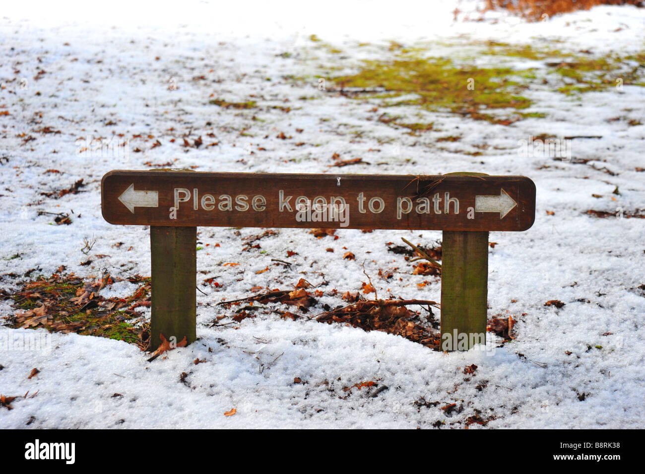 Please Keep To The Path 'Sign' - Stock Image
