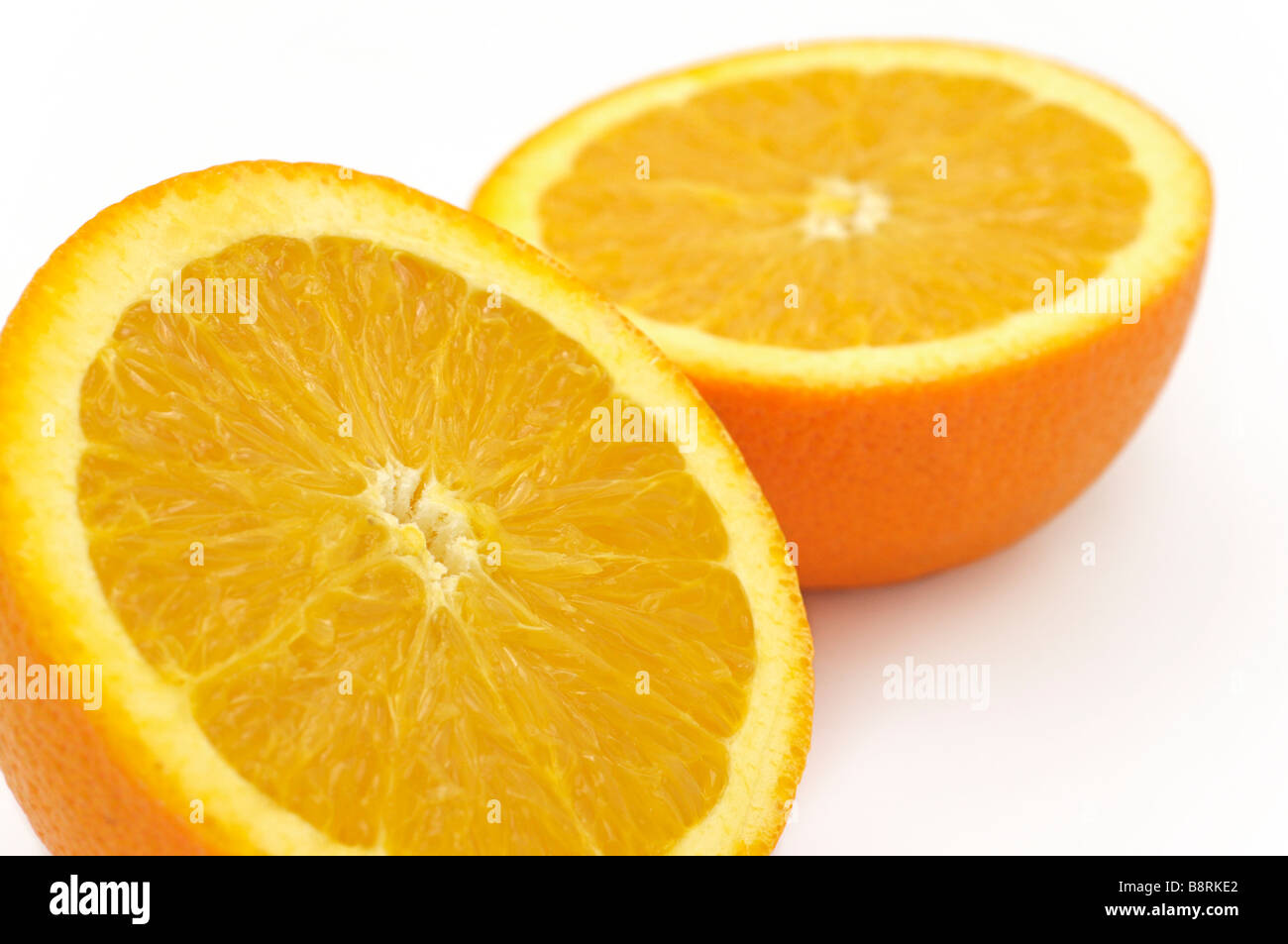 Orange Halves - Stock Image